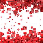 Leuchtkasten Rot-Abstrakt